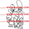 Sticker Simpson Famille