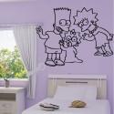 Sticker Simpson Bart, Lisa et bébé