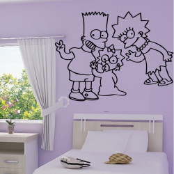 Sticker Simpson Bart, Lisa et bébé