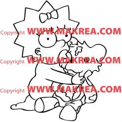 Sticker Simpson Maggie