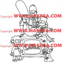 Sticker Simpson Famille 2