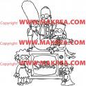 Sticker Simpson Famille 2