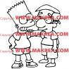 Sticker Simpson Bart et son copain