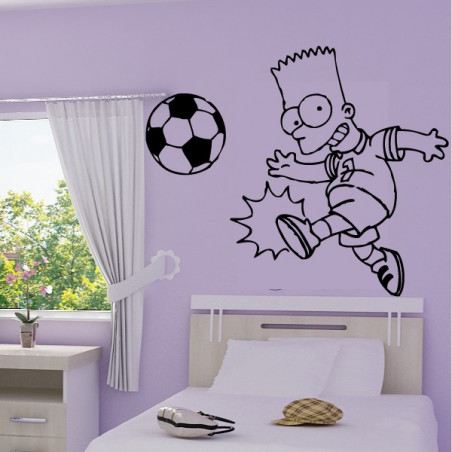 Bart Simpson joue au foot