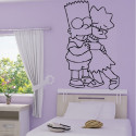 Sticker Simpson Bart et Lisa