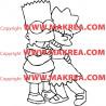 Sticker Simpson Bart et Lisa