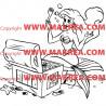 Sticker La Petite Sirène et le trésor