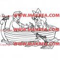 Sticker La Petite Sirène sur barque