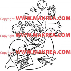 Sticker La Petite Sirène et ses amis