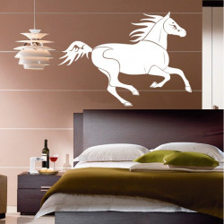 Sticker Cheval Galope