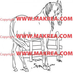 Sticker Cheval 5