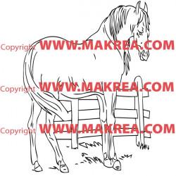 Sticker Cheval 5