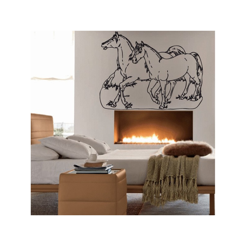 Sticker Chevaux