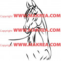 Sticker Cheval 6