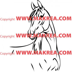 Sticker Cheval 6