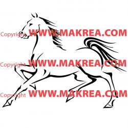 Sticker Cheval 8