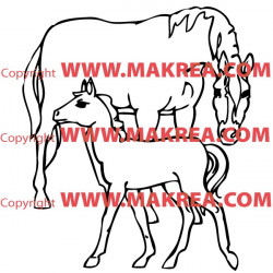 Sticker Cheval 9