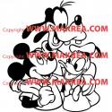 Sticker Mickey - Donald et Dingo