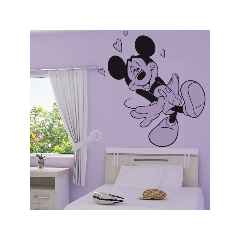 Sticker Mickey Mouse Amoureux