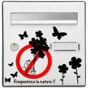 Sticker Boite aux lettres Fleurs