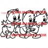 Sticker Riri, Fifi, Loulou