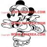 Sticker Mickey Mouse en roller
