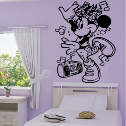 Sticker Minnie musique