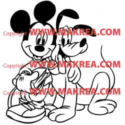Sticker Mickey Mouse et Dingo