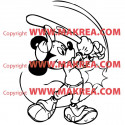 Sticker Mickey Mouse Baseball
