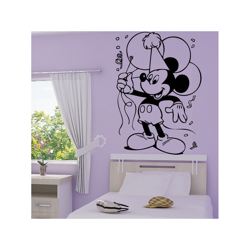 Sticker Mickey Mouse fait la fête