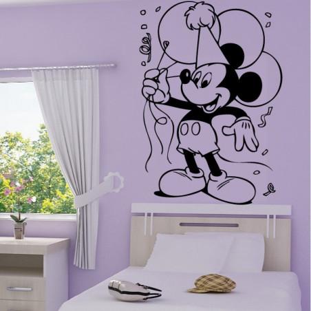 Sticker Mickey Mouse fait la fête