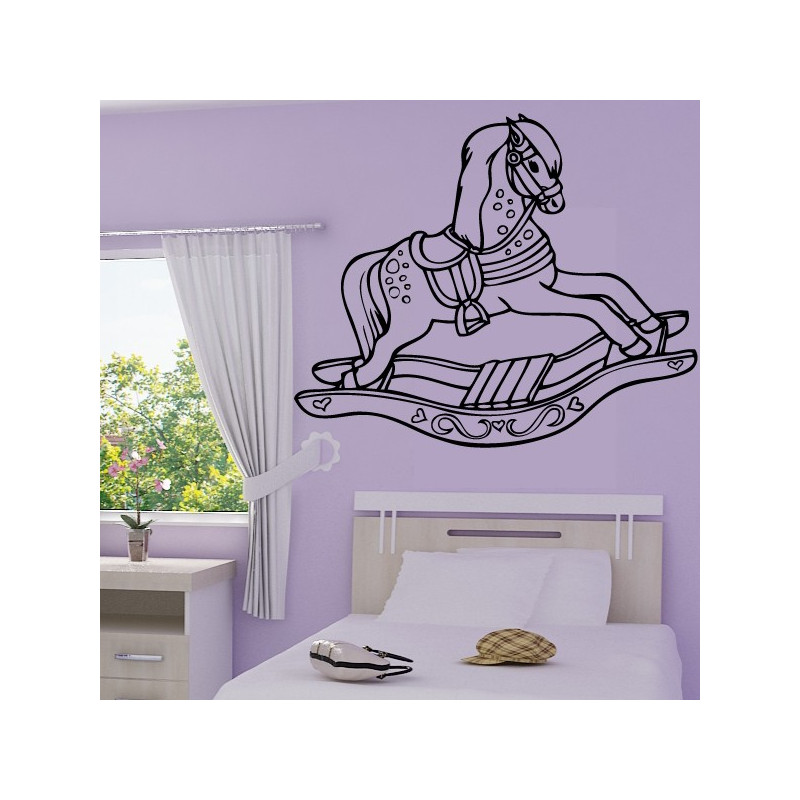 Sticker Cheval de bois