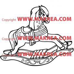 Sticker Cheval de bois