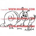 Sticker Escargot rigolo