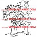Sticker Charlotte aux Fraises et le pommier