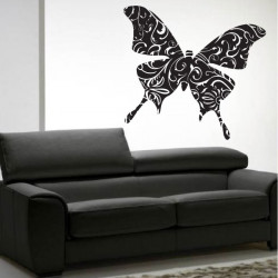 Papillon Design Floral Couleur