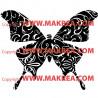 Sticker Papillon Design 4