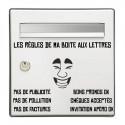Sticker les règles de ma boîte aux lettres