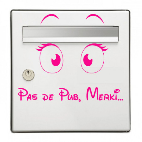 Sticker Boite aux lettres No Pub merki