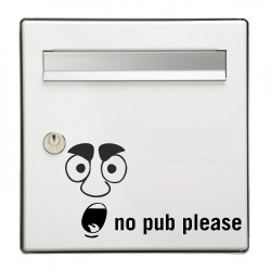 Sticker Boite aux lettres No Pub please