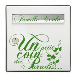 Sticker Boite aux lettres Un ptit coin + Famille