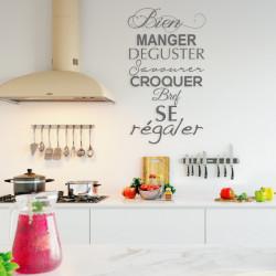 Citation Bien manger déguster savourer croquer bref se régaler