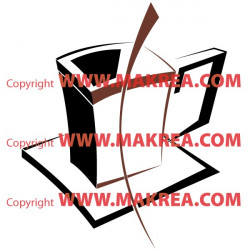 Sticker Tasse Design bi-color
