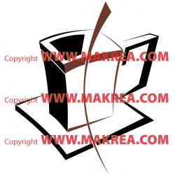 Sticker Tasse Design bi-color