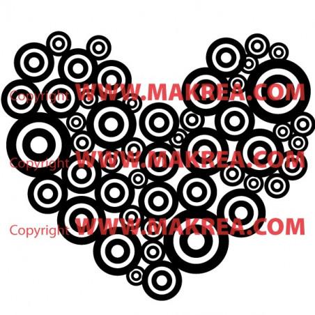 Sticker Coeur Cercles