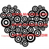 Sticker Coeur Cercles