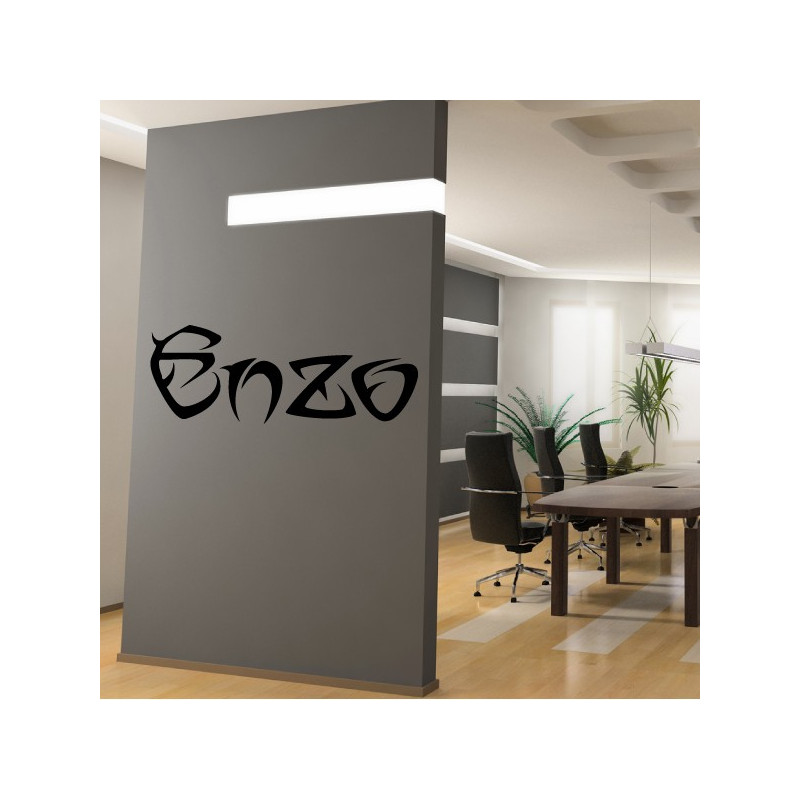 Sticker Lettrage ENZO Horizontal
