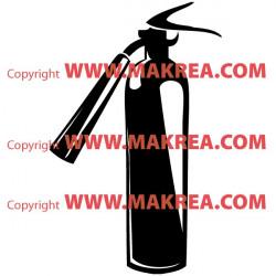 Sticker Extincteur Pompier