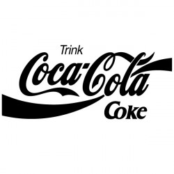 Sticker Logo Coca-Cola
