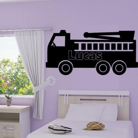 Camion Pompier + prénom personnalisable